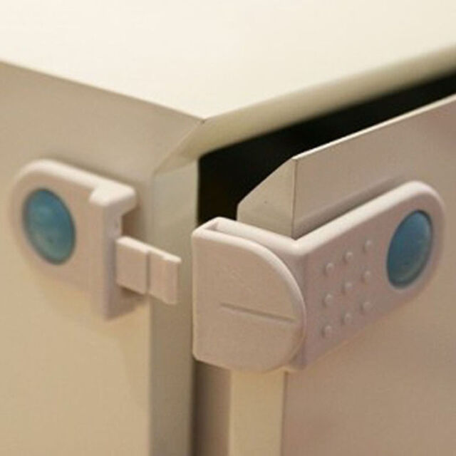 2Pcs Cupboard Locks Baby Safety Lock Refrigerator Toilet Door Closet Locker