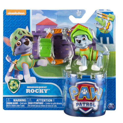New Paw Patrol Mission Quest Rocky Hero Pup Figure