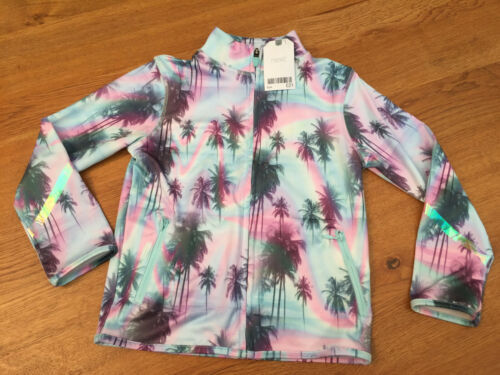 Next Girls Turquoise//Palm Tree Sports Jacket//Tracksuit Top 5 years BNWT
