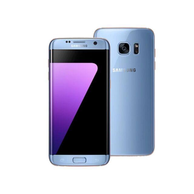 Samsung Galaxy S7 Edge G935FD Dual SIM 4G LTE 64GB Blue Coral Ship from UK