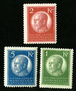 Sweden-Stamps-208-210-VF-Scarce-High-Value-Catalog-Value-432-50