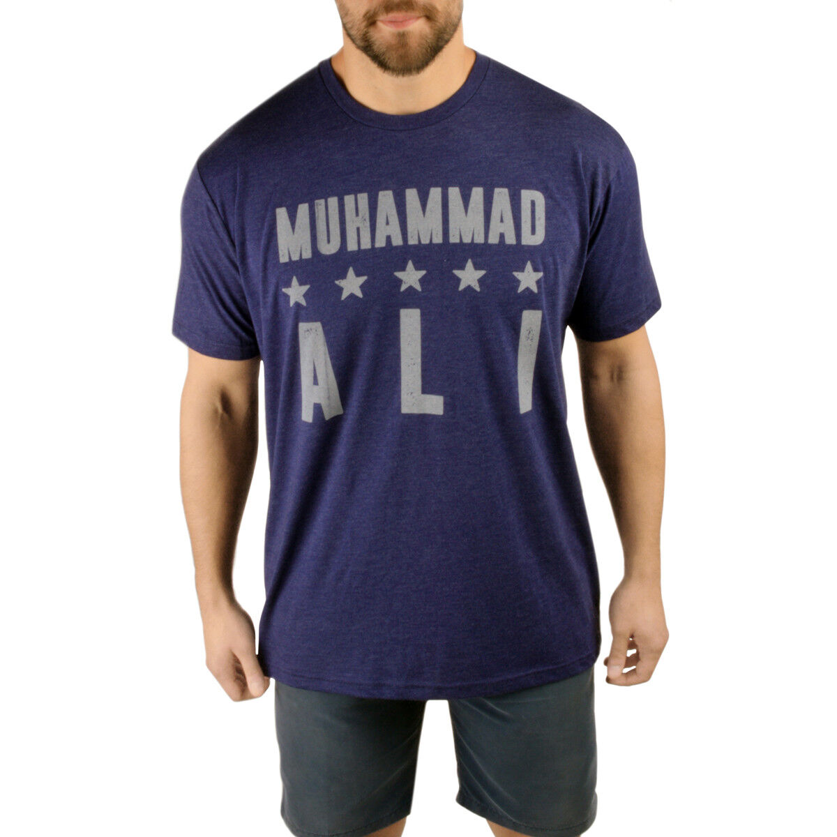 Title Boxing Ali Three Time Heavy Weight Champ Legacy T-Shirt - Royal Navy