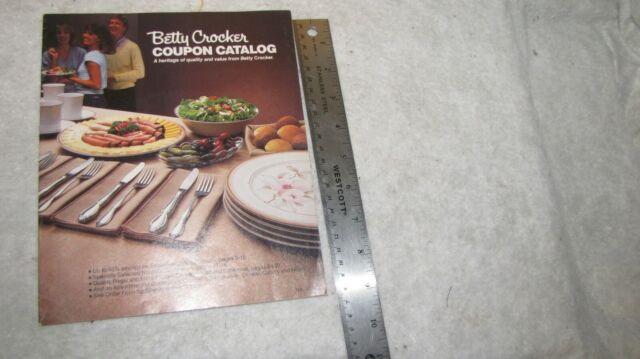 Vintage Betty Crocker Coupon Catalog No 16A, 1984