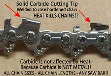 """SOLID CARBIDE Chainsaw Chain for 16"""" Husqvarna H30-66 Link 501840666 SEE VIDEO"""