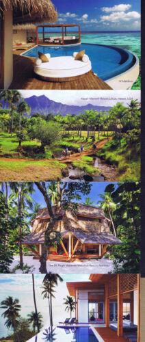 Lihue Hawaii /& West Maldives Hotel Postcard Set//4 Regis Maldives Koh Sami St