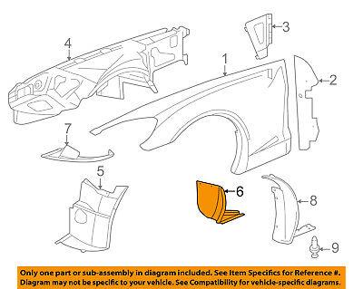 Chevrolet GM OEM 06-09 Corvette-Rear Fender Liner Splash Shield Right 15827791