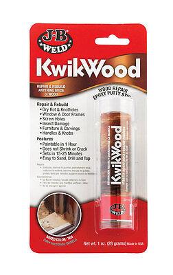 Forceful J-b Weld 8257 Kwikwood Wood Repair Epoxy Putty Stick Glues, Epoxies & Cements Business & Industrial 1 Oz.