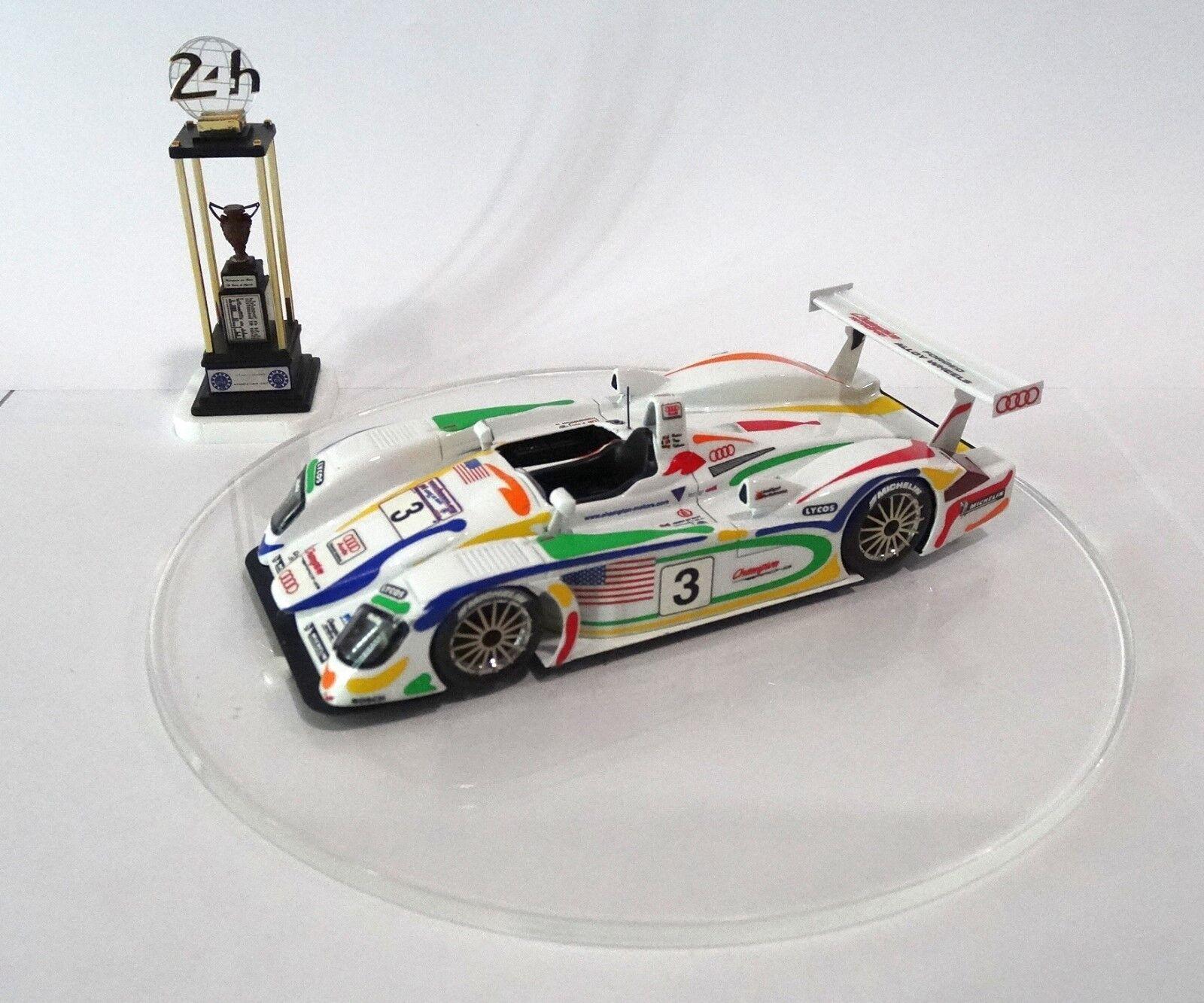 AUDI R8R  3 Le Mans 2001 2001 2001 CHAMPION Built Monté Kit  no spark minichamps 94822c