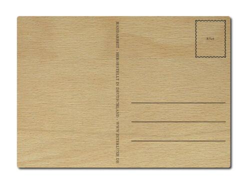 LUXECARDS POSTKARTE aus Holz WILLKOMMEN IM NEUEN HEIM Einzug Echtholz Grußkarte