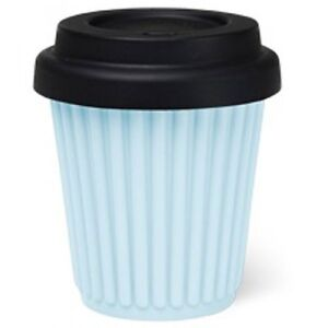 About Details Byo 230ml 8 In Silicone Oz Cup Mug BlueBlack Reusable Coffee Travel xoBeCd