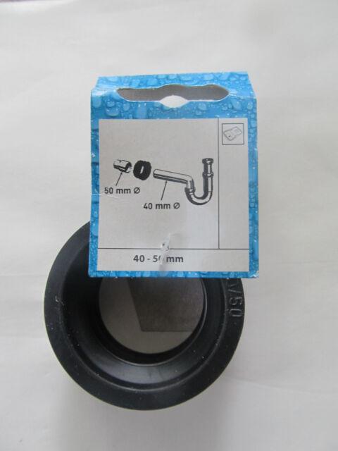 Gummi Gewindenippel  50 x 40 mm Ablauf verbinder  Siphon Dichtung