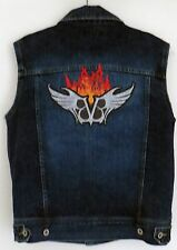 BLACK VEIL BRIDES customised *Flamed wings* one-off design denim jacket