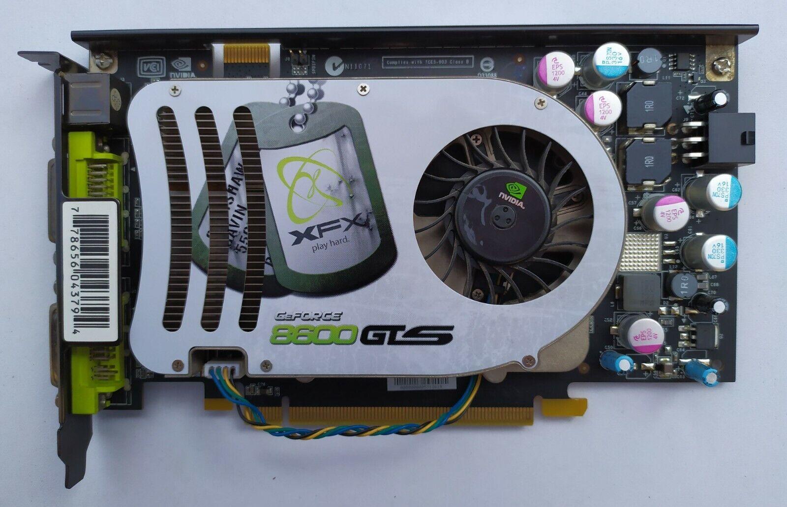 PC VGA Video Card NVIDIA GeForce 8600 GTS 256mb ddr3 XFX