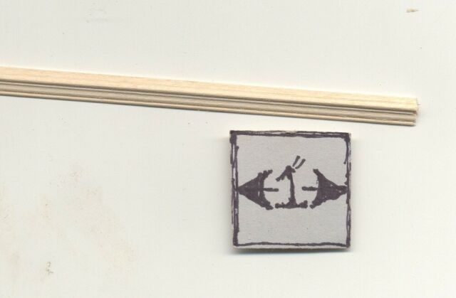 CHAIR RAIL NE957 trim molding dollhouse miniature 1pc  chairrail CRB8 1/12 scale