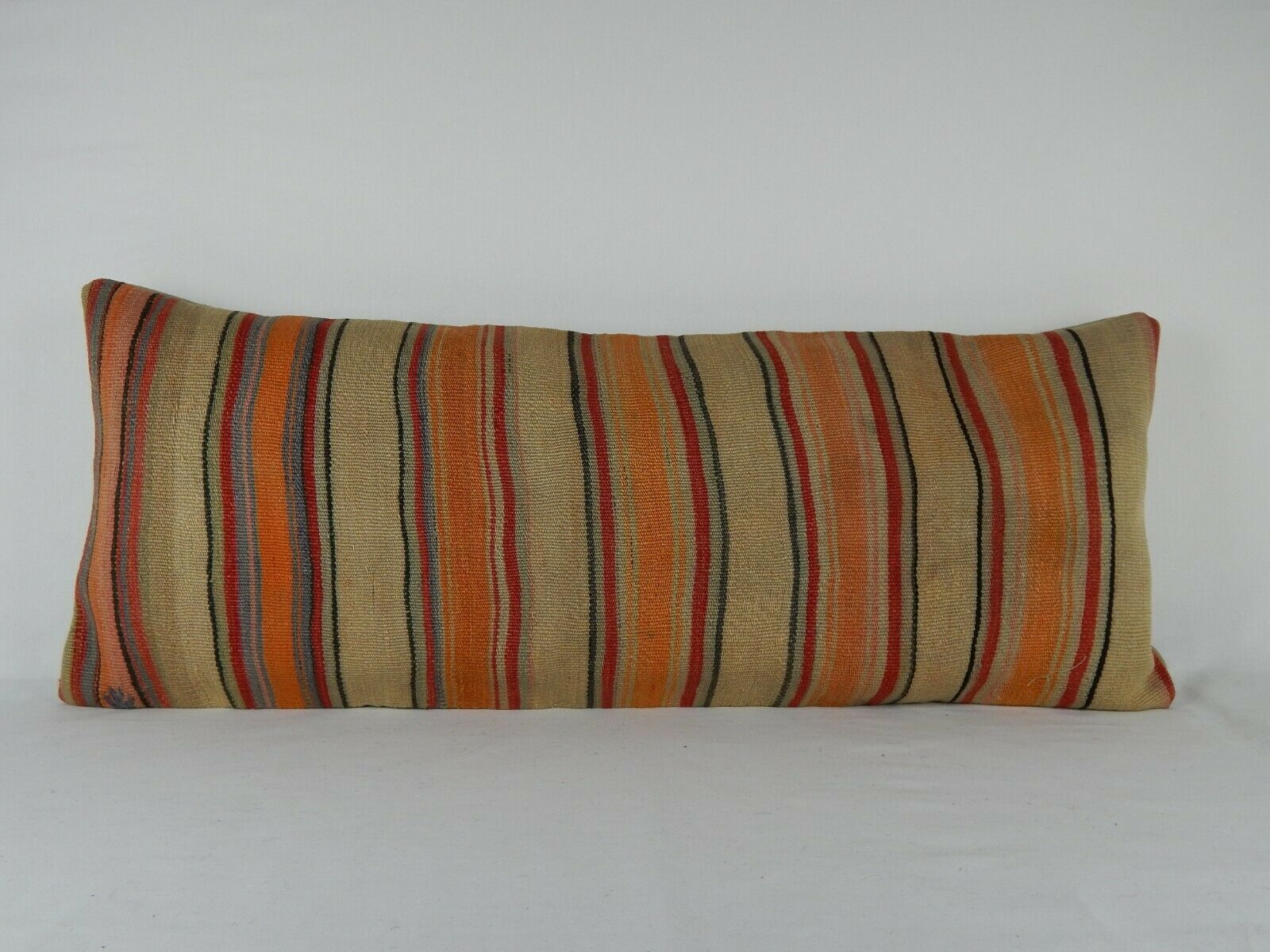 16'' X 40'' Handwoven Bohemian Wool Hippie Bedding Bed Kilim Rug Pillow Cover