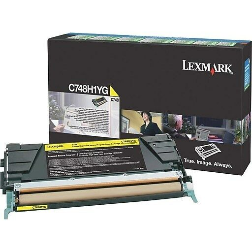 Lexmark Genuine C748H1YG YELLOW Toner For C746 C748 - 10,000 Pages