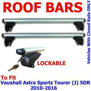 Aero Locking Roof Bars For Vauxhall Astra Sports Tourer J