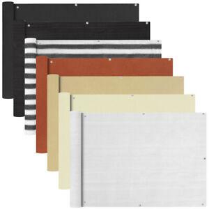 Balkon-Sichtschutz-Balkonbespannung-Balkonverkleidung-Windschutz-mehrere-Auswahl