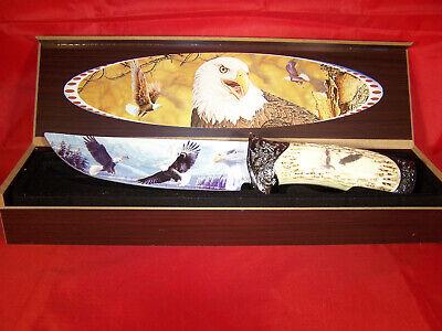 Adler ANGEBOT * Messer bunte Klinge Griff in Beinoptik  auf Hornständer