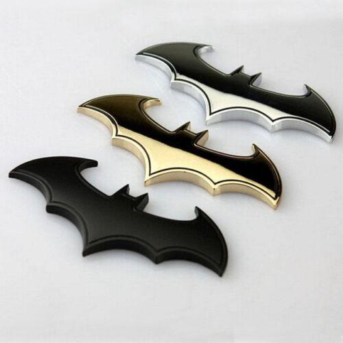 1x Bat 3D Chrome Metal Motorcycle Auto Car Logo Sticker Emblem Badge Tail Decals
