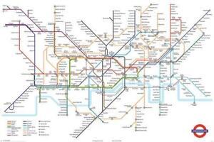image is loading tfl tube london underground map maxi poster 61x91