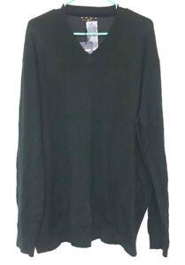 Club Room Green Merino Wool Blend Long Sleeve V Neck