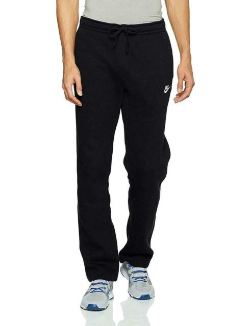 Nike Men's Open Hem Fleece Club Black Sweatpants Sz 3xl