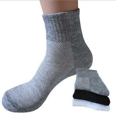 5 Pairs Men's Socks GYM Casual Soft Cotton Sport Sock Gift