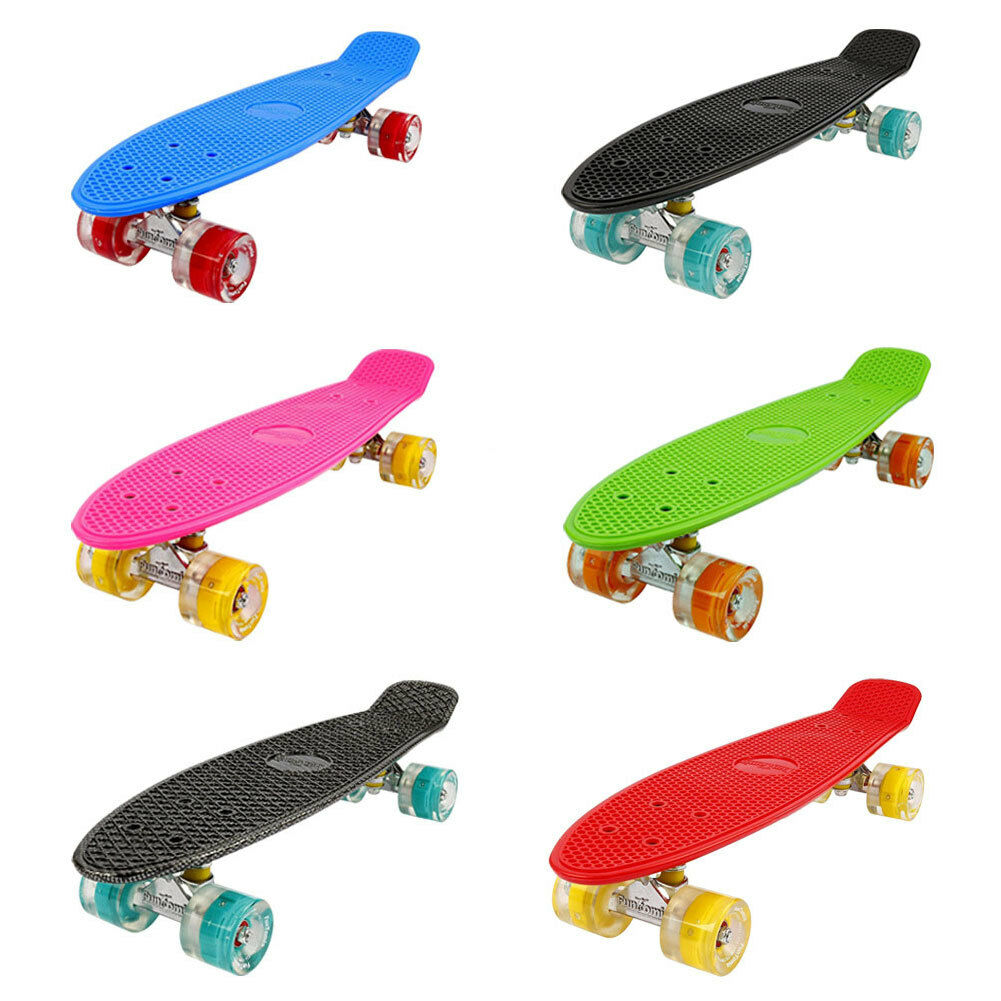 MINI Board funtomia (LED) Skateboard Cruiser kinderboard Board abec-11 BAG