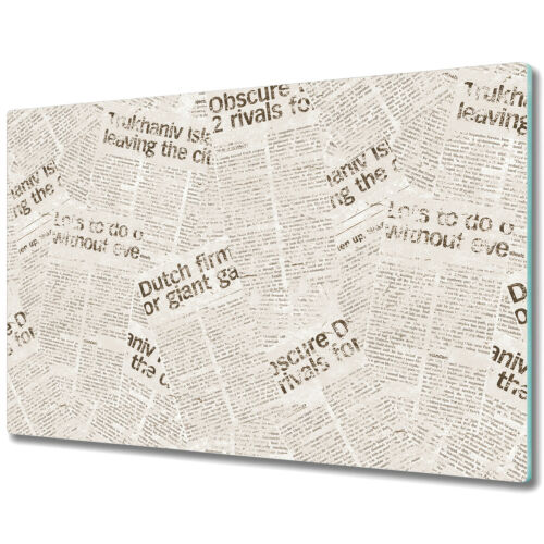 Details about  / Glass Chopping Cutting Board Vintage Newspaper Scandinavian Simple 80x52