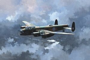 "18/"" Print Avro Lancaster Bomber Command Aviation Aircraft Painting Art Print"