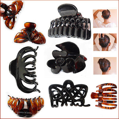 Süß GehäRtet Hair Claw Clip Butterfly Folding Grip Hold Up Twist Large Style Plastic Clamps Verkaufspreis
