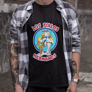 2f73f3f4 New LOS POLLOS HERMANOS Breaking Bad Chicken Men's Black T-Shirt ...