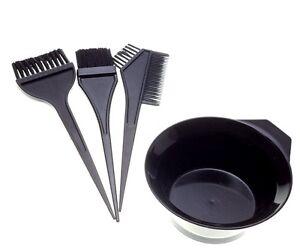 hair coloring brush amp bowl 4 pcs set tint tool bleach dye