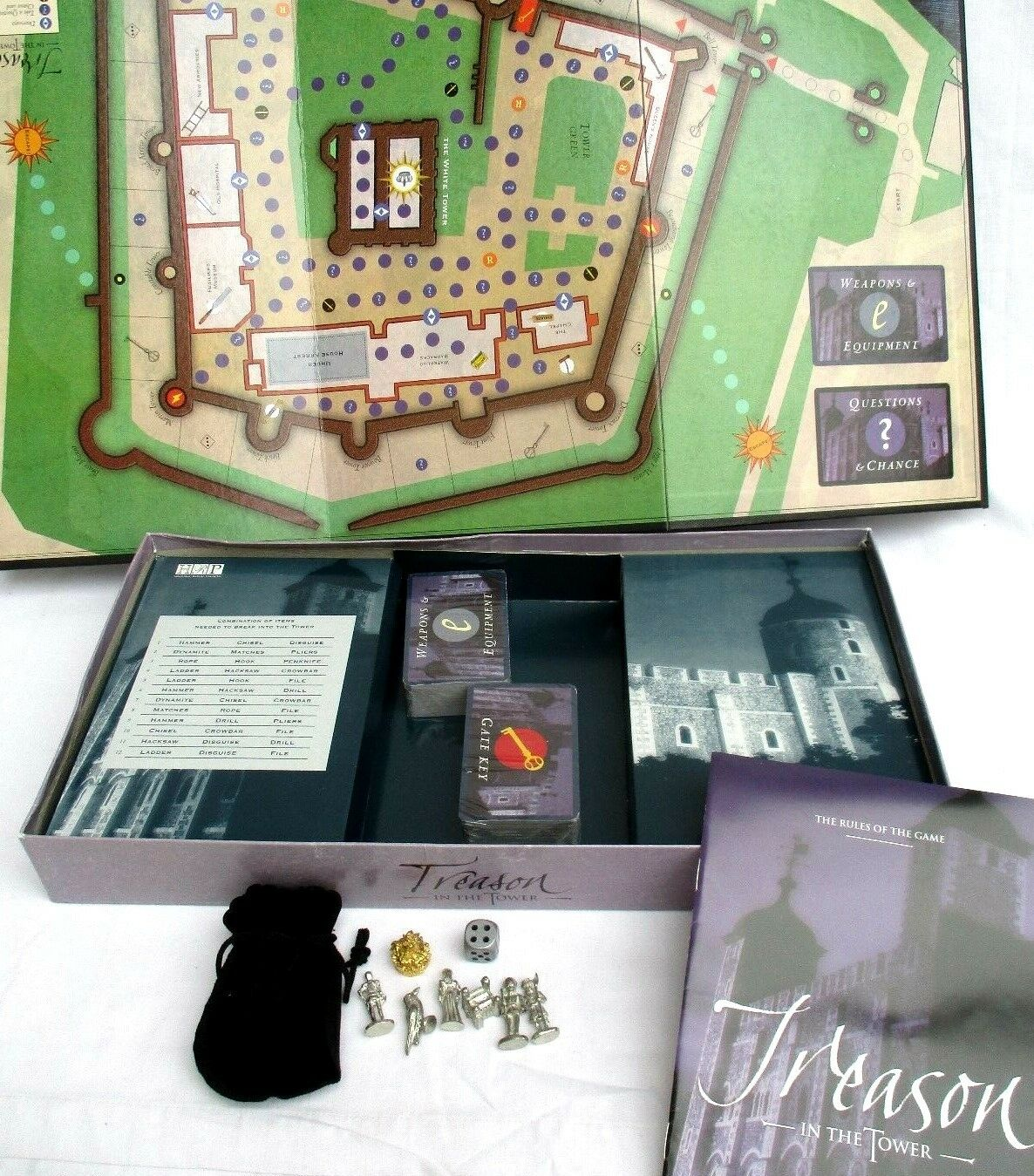 TREASON IN OF THE TOWER..A GAME OF IN DARING DEEDS & EViL SCHEMES..NEW 53708f