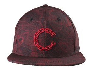 Details about Crooks & Castles Black True Red Linear Medusa Snapback Baseball Hat Cap NWT