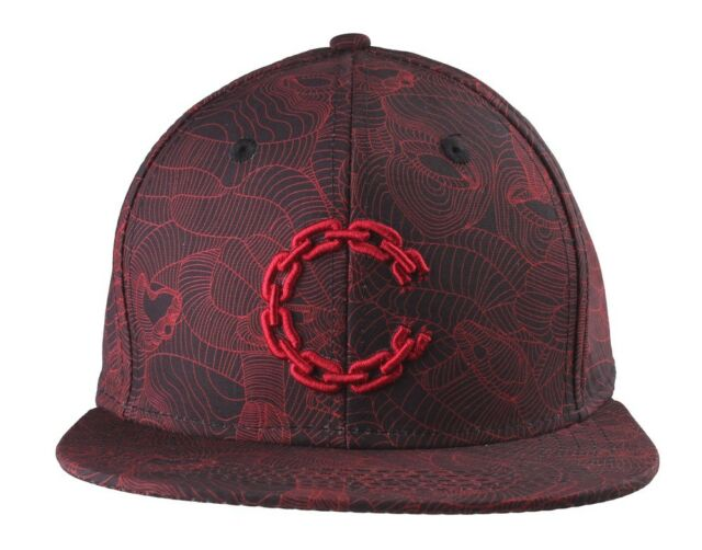 Crooks   Castles Black True Red Linear Medusa Snapback Baseball Hat Cap NWT fbfab456b671