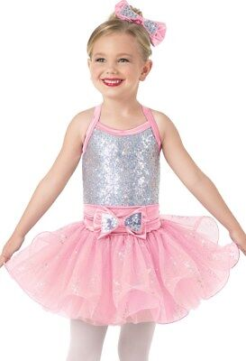 MC /& LC Details about  /NEW Girls Dance Costumes Weissman 9708 Magic Pink 5 availabl Girls IC