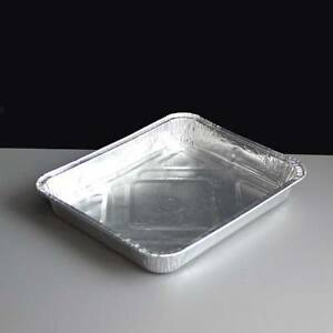 Pack-20-Food-Safe-Shallow-Rectangular-Foil-Baking-Tray-Rolled-Edge-197-x-162mm
