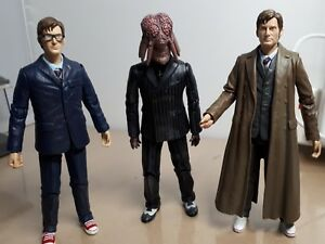 3 doctor who 5 action figures tenth doctor david tennant glasses