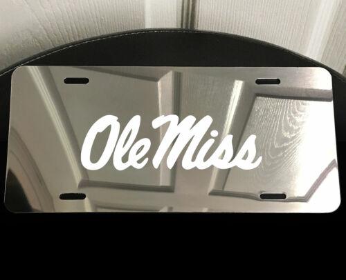 OLE MISS University Laser Etched Aluminum Car Truck Auto Vanity License Plate B