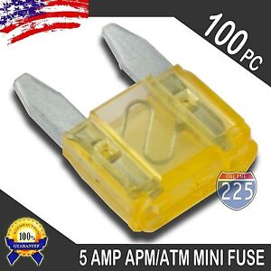 100 Pack Auto Fuses 15 AMP APM//ATM 32V Mini Blade Style Fuses 15A Short Circuit Protection Car Fuse