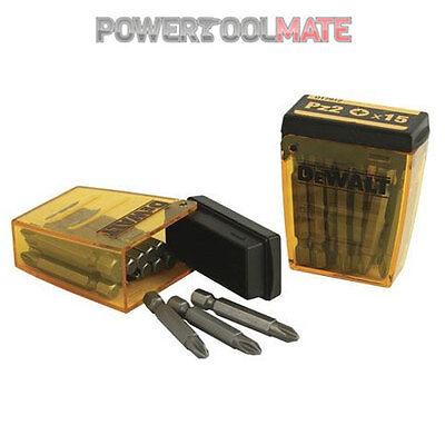 Dewalt DT7912 15 piece PZ2 Pozi 2 50mm Screwdriver Bits in Flip Box *TWIN PACK*