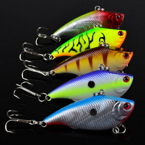 Lot 5Pcs Fishing Lures Kinds Of Minnow Fish Bass Tackle Hooks Baits Crankbait##