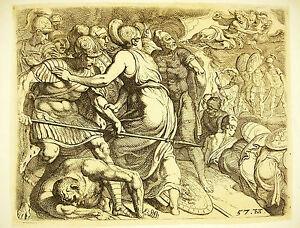 DernièRe Collection De Odysée D'ulysse Théodore Van Thulden 1633 D'ap Le Primatice Odyssey Of Ulysse 57