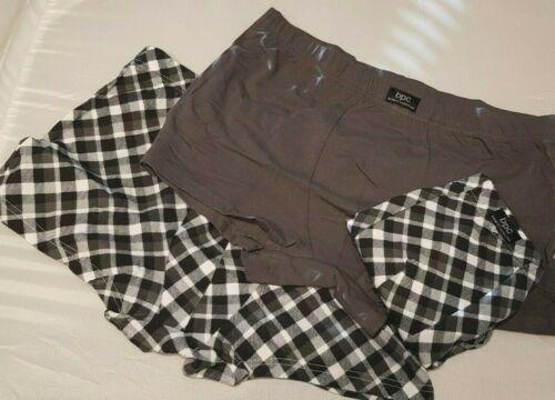 3x Herren Unterhosen Short Shorts Retroshorts grau schwarz-weiss Größe 6