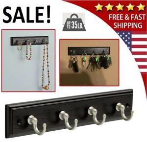 Wall Mount Key Rack Hanger Holder 4 Hook Chain Storage Keys Organizer Home Decor