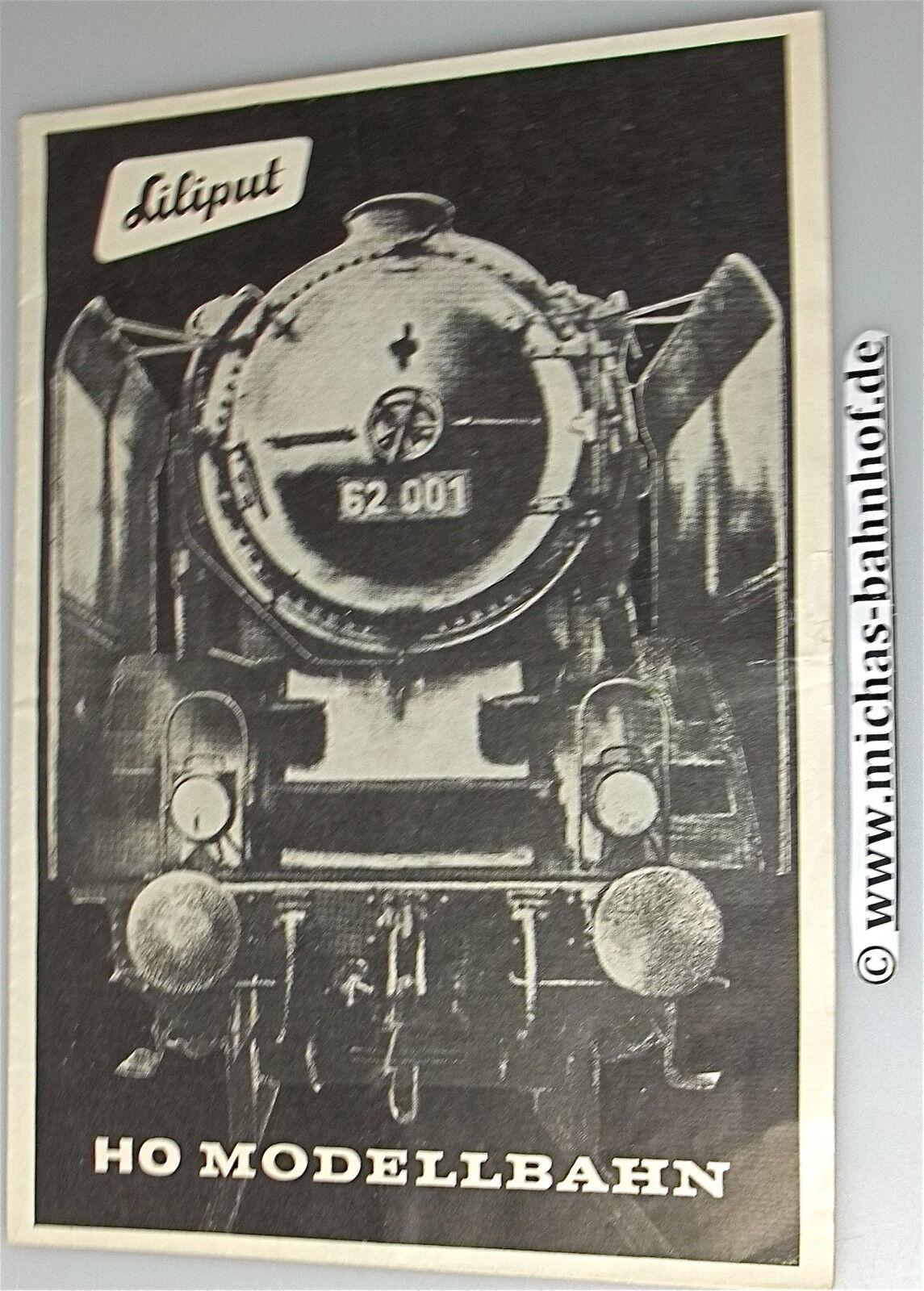 Liliput H0 Model Railway Brochure Leaflet Very Old Å