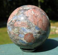 Que Sera Stone Sphere / Crystal Ball ~ LLanite ~ Blue Liberite