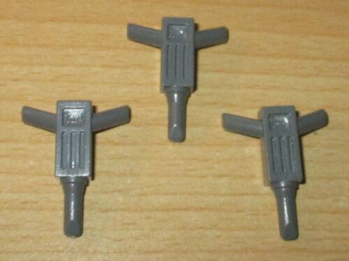 Figuren Zubehör 3x Bohrhammer dunkel grau Lego
